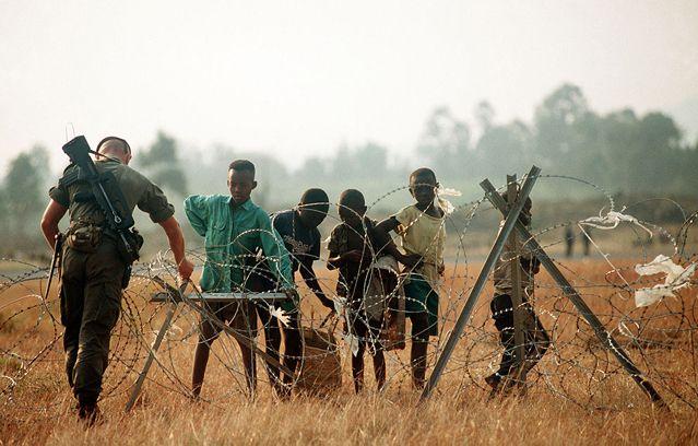 Soldat français de l'opération Turquoise au Rwanda