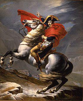 Bonaparte franchissant le Grand St Bernard, par David