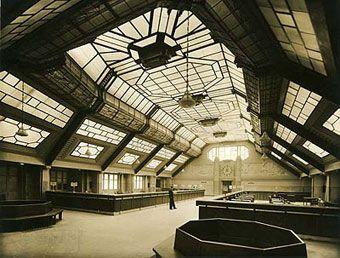 salle des guichets, Ministère du Travail, vers 1935