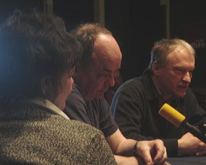 Catherine Salviat, Daniel Znyk et Valère Novarina