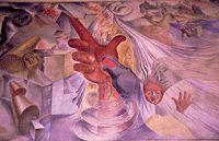 Peinture murale de la gare de Concepcion