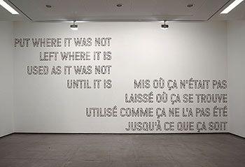 oeuvre de Lawrence Wiener présentée aux Abattoirs à Toulouse