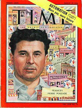 Pierre Poujade dans Time du 19 mars 1956