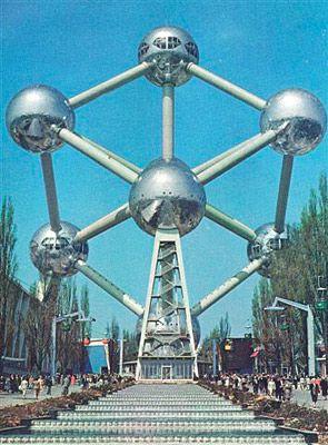 l'atomium de Bruxelles en 1958