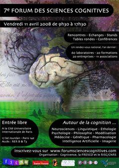 A l'occasion du Forum des sciences cognitives.