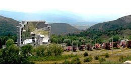 Le four solaire d'Odeillo, à Font Romeu, dans les Pyrénées