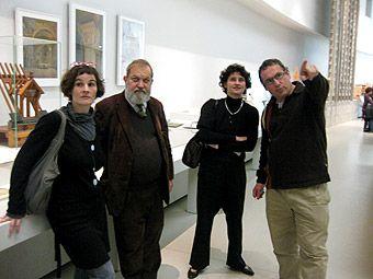 P. Kervran, P. Pinon, C. Bélier et E. Laurentin en balade