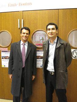 Sandro Gozi et Guillaume Klossa à Sciences Po Paris