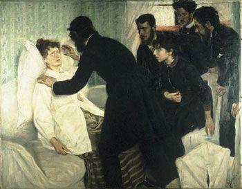 Séance d'hypnose, par Richard Bergh, 1887