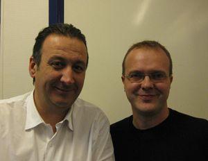 Sylvain Bourmeau et Cyril Lemieux