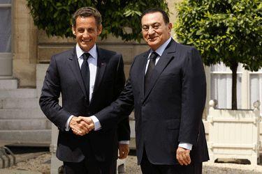 La rencontre du Président Sarkozy et du Président Moubarak
