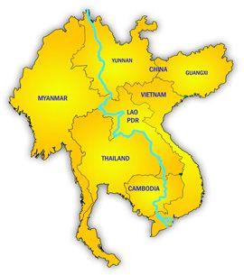 Le mékong, une frontière au milieu de l'Indochine