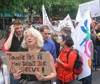Manifestation d'enseignants à Paris en mai 2008