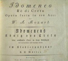 *Première page du livret de l'opéra d'Idoménéo
