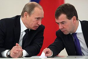 Entre Medvedev et Poutine, le rapport de forces est clair.