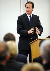 David Cameron, leader