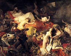 La mort de Sardanapale d' E. Delacroix 1827