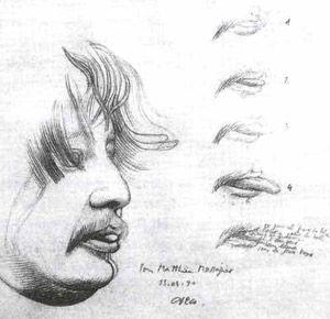 Matthieu Messagier dessiné par Henri Cueco