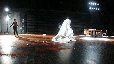 Répétition de Bérénice au CNDC d'Angers - mai 2010