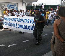 Manifestation à Pointe-à-Pitre, février 2009