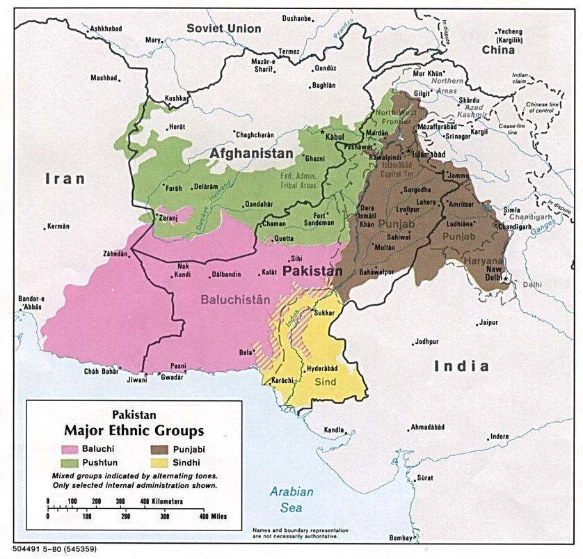 Les groupes ethniques pakistanais