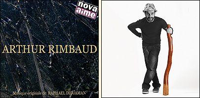 La pochette d'Arthur Rimbaud et celle du prochain album de Raphaël Didjaman.