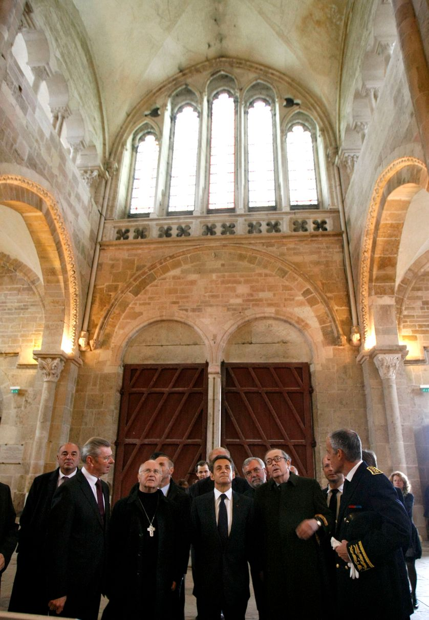 Nicolas Sarkozy en visite privée à Vézelay le 30 septembre 2010
