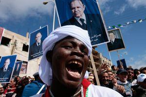 Manifestation en faveur du président sortant