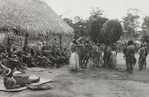 Danse du marid'do. Mato Grosso, Brésil