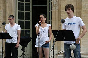 Répétitions des élèves-comédiens.