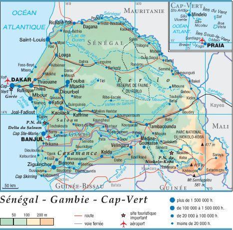 Sénégal - Gambie - Cap-Vert