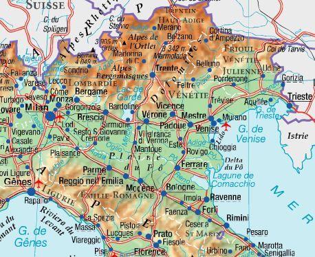Le Nord-Est de l'Italie