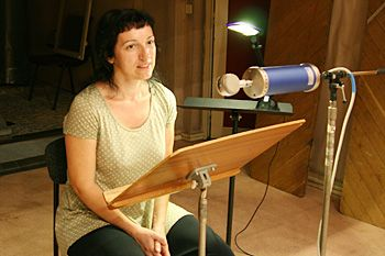 La comédienne Cécile Gérard.