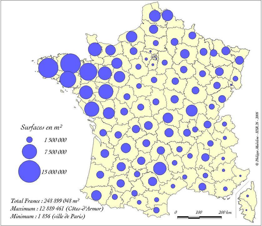 La construction agricole (1980-2002). Source : Ministère de l'Equipement, DAEI, SESP, SITADEL.