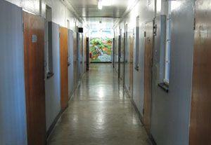 Robben Island - Couloir donnant sur les cellules des prisonniers politiques.