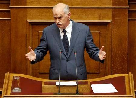 Papandreou accepterait de démissionner s'il obtient la confiance