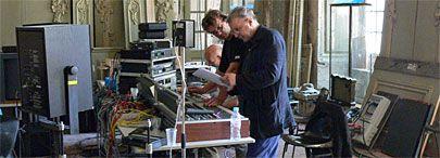 L'une des salles du musée Calvet transformée en studio