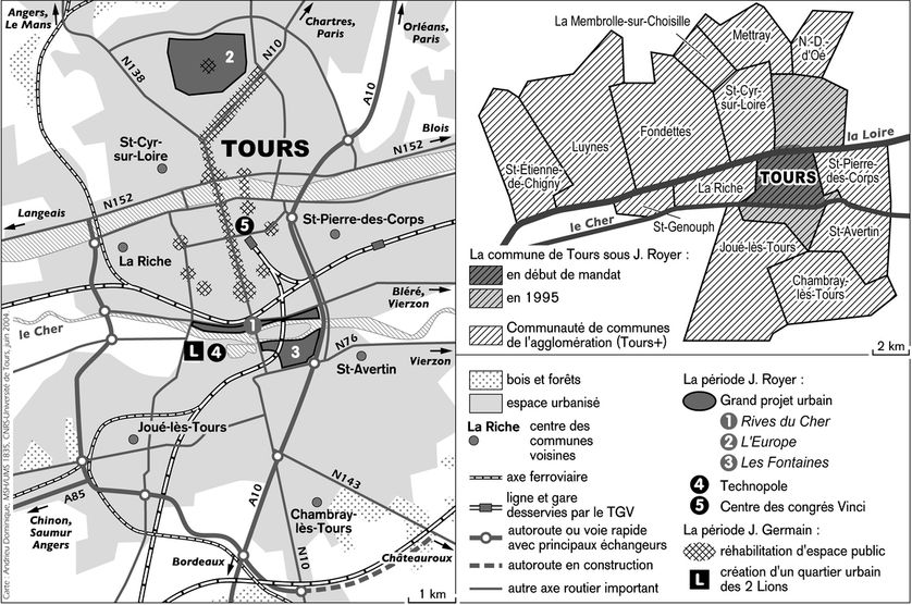 Les transformations contemporaines de la ville de Tours (1970-2004)