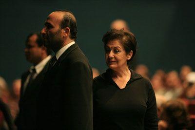 Jalila Baccar lors du spectacle Amnesia