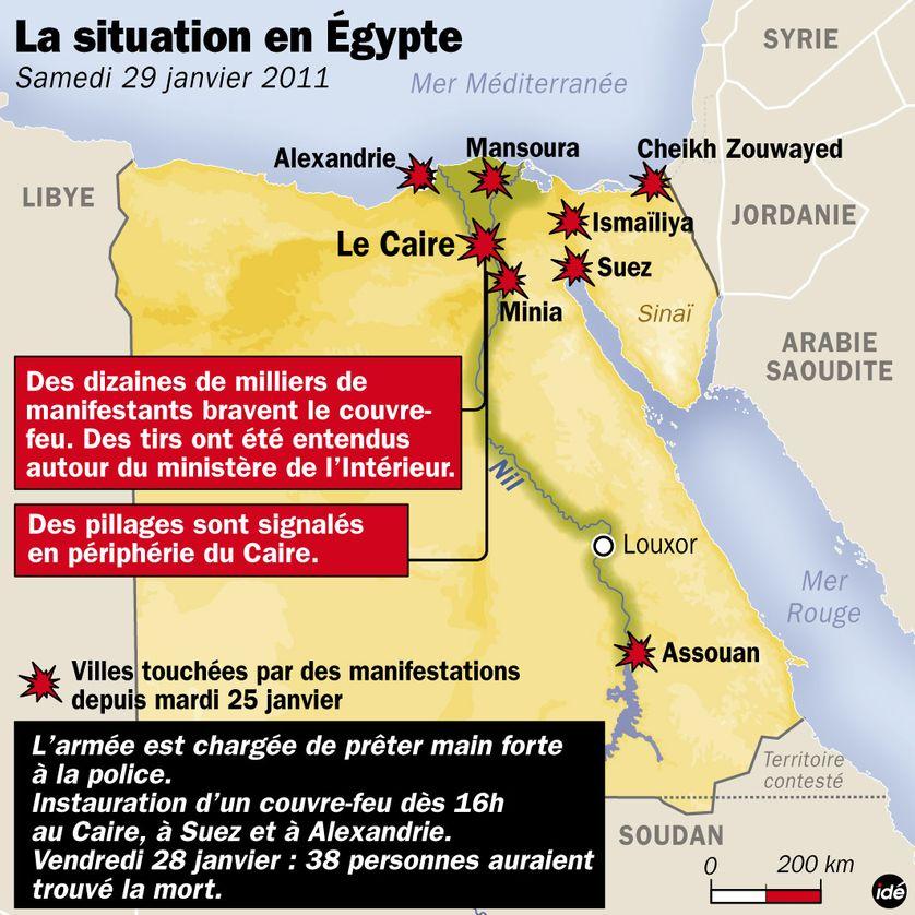L'Egypte samedi 29 janvier