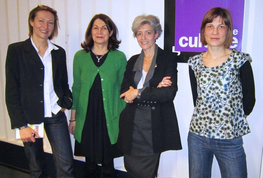 Aurélie Luneau, Claire Gibault, Claudie Haigneré et Céline du Chéné