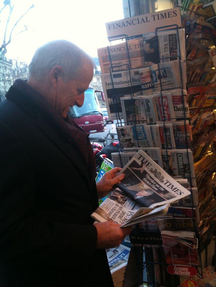 """Charles Bremner, éditorialiste et correspondant à Paris de """"The Times"""""""