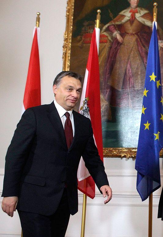 Le Premier ministre hongrois Viktor Orban à Vienne le 14 décembre 2010