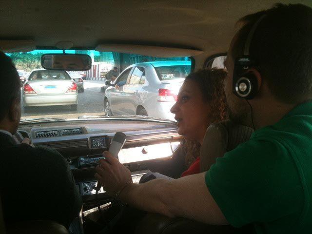 interview dans un taxi, au Caire