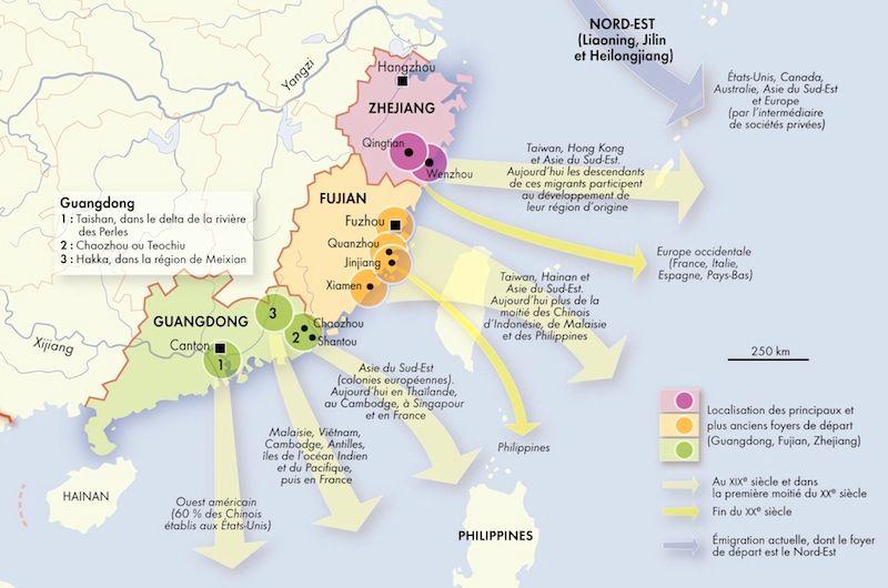 Chine - flux migratoires