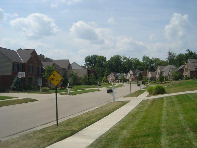 """""""Suburbs"""" américains dans l'Ohio."""