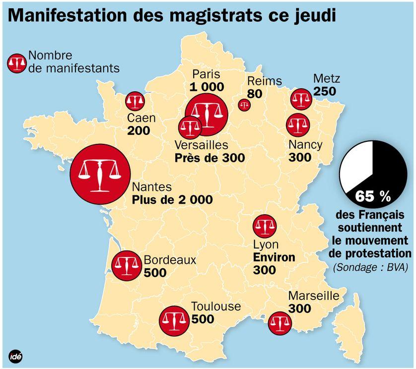 Magistrats : la mobilisation ville par ville