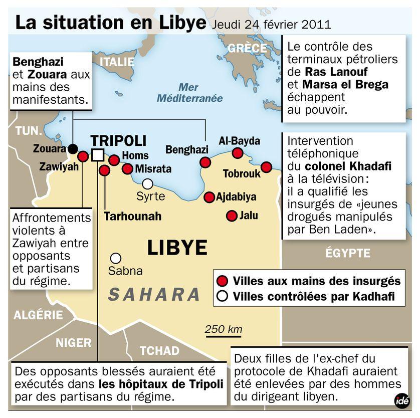 Libye : la situation le 24 février au soir