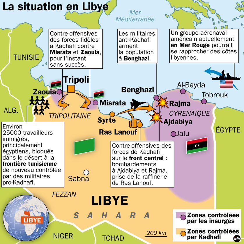 En Libye au 1er mars