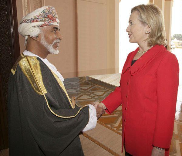 His Majesty Sultan Qaboos & Hillary Rodham Clinton